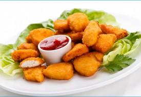 Наггетсы (филе куриное из белого мяса в панировке)